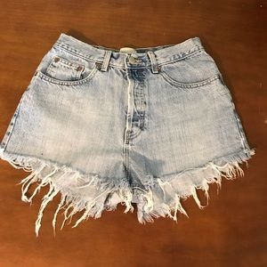 Vintage Style High Waisted GAP Jean Shorts Size 10